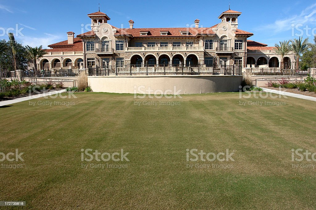 TPC Club House Golf Course Sawgrass royalty-free stock photo