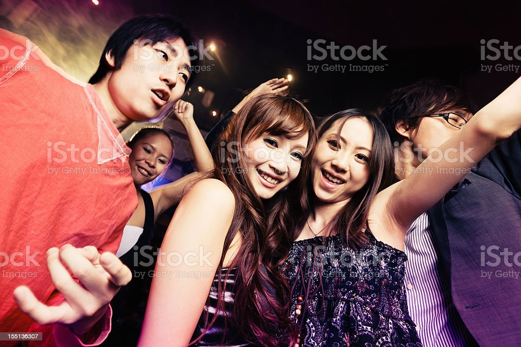 Club Party Young Japanese Girls and Boys Tokyo Going Out royalty-free stock photo