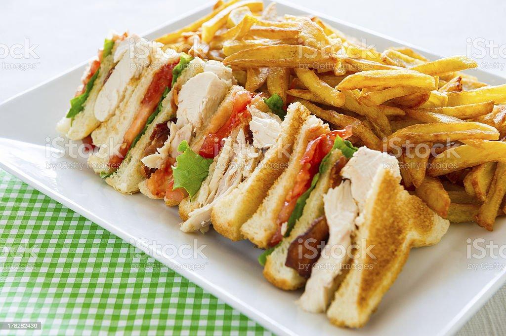 Club sandwich meal stock photo