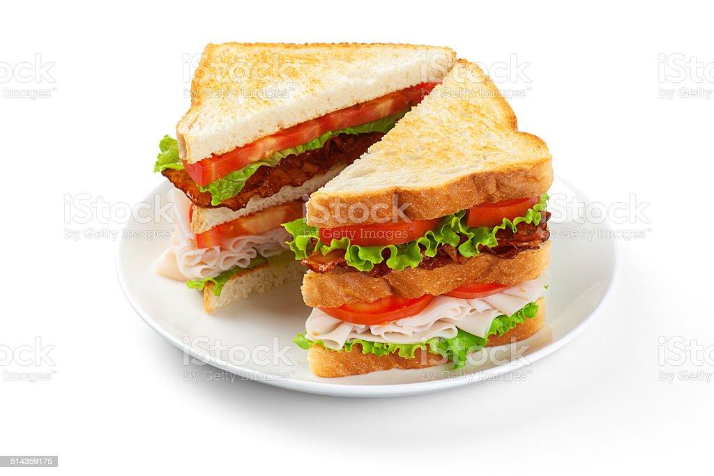 Club Sandwich stock photo