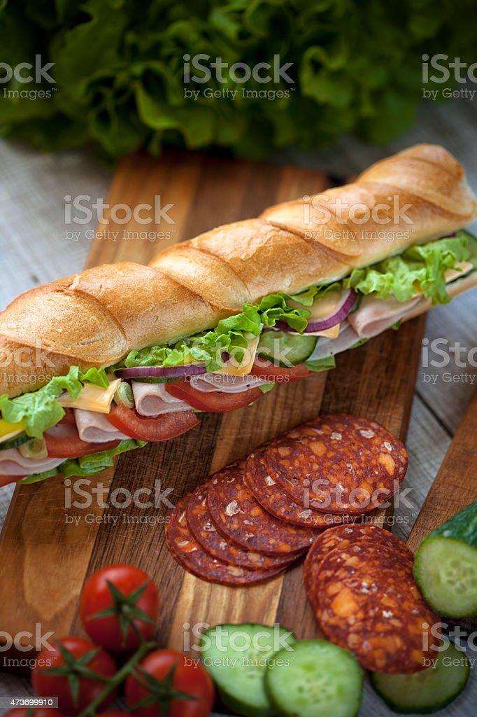 Club sandwich au jambon et de pain complet - Photo