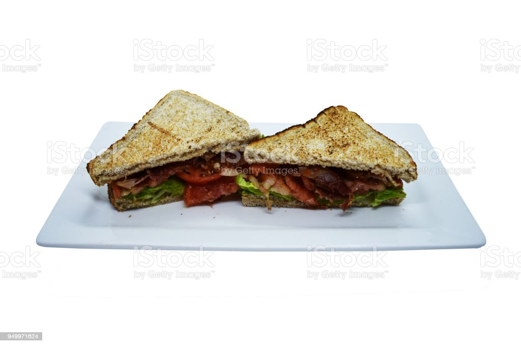 Club sandwich with veggies and non stock photo
