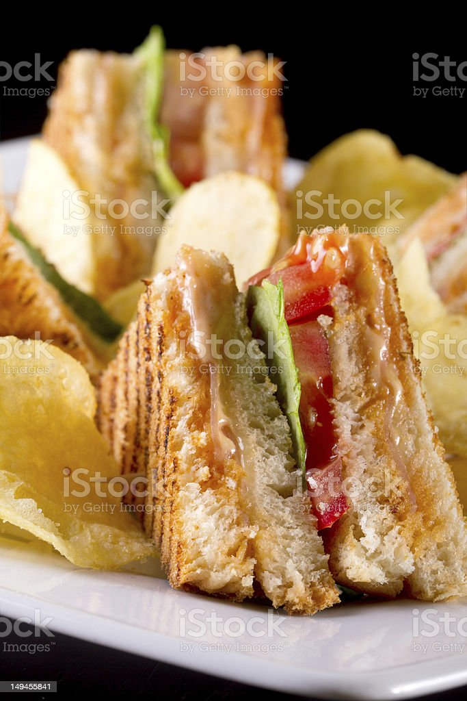 Club sandwiches royalty-free stock photo