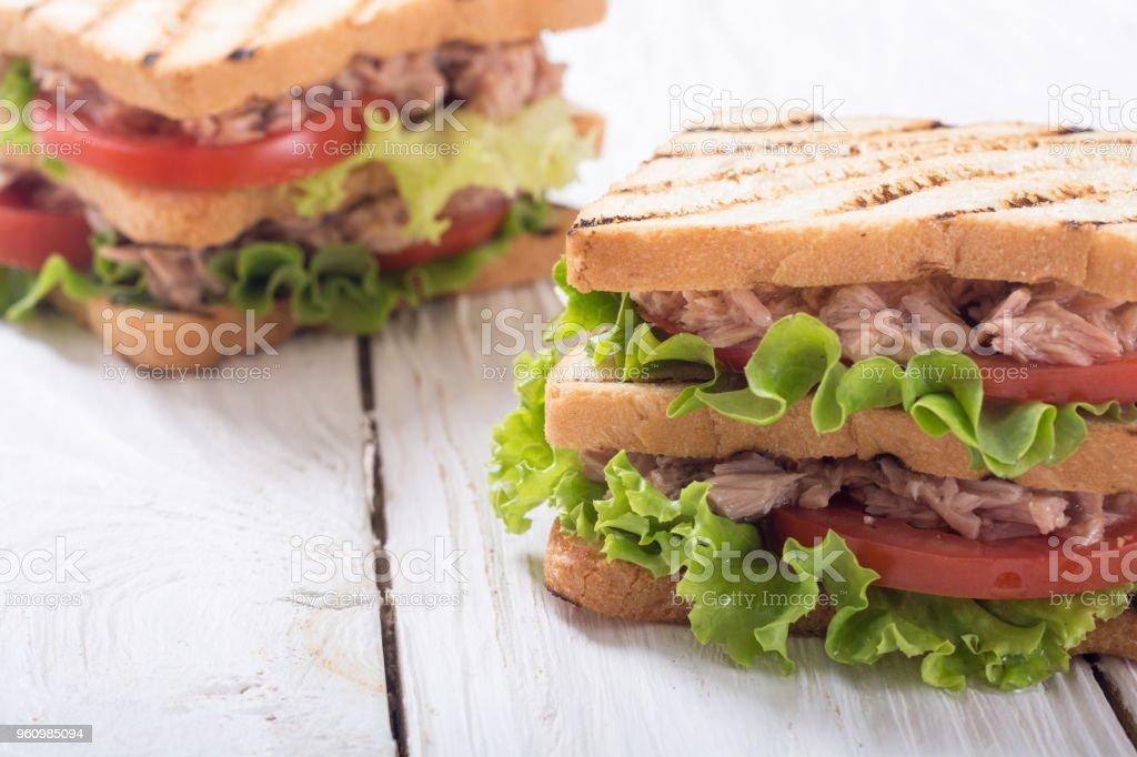 Club-Sandwith mit Thunfisch - Lizenzfrei Brotsorte Stock-Foto