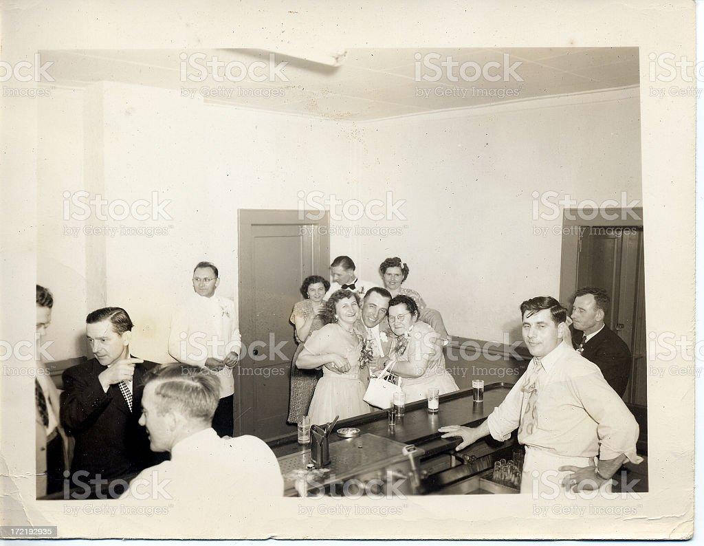 1950 club scene royalty-free stock photo