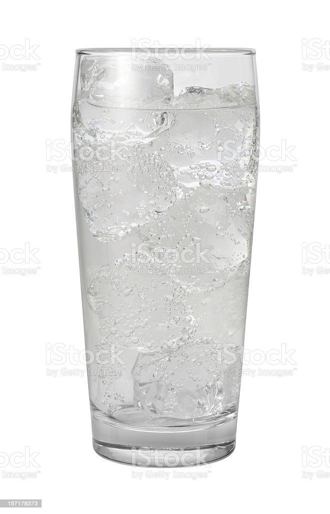クラブソーダ水、クリッピングパスの分離 ストックフォト