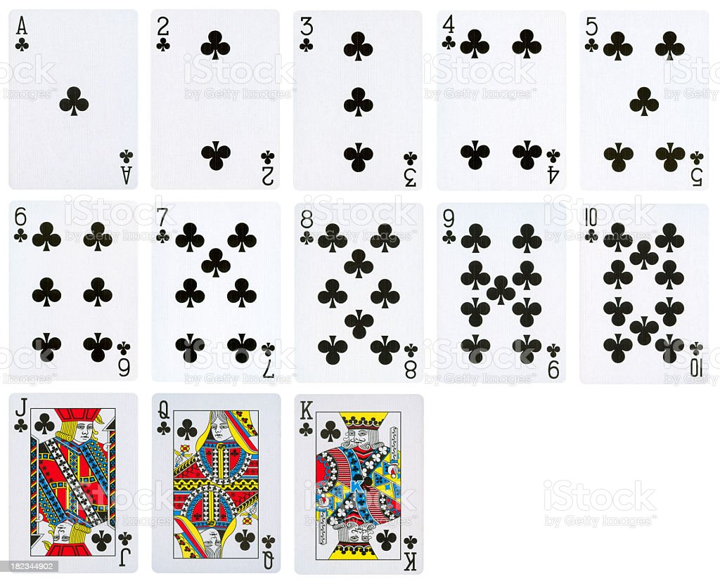 Club Suit of Playing cards (High Quality) stock photo