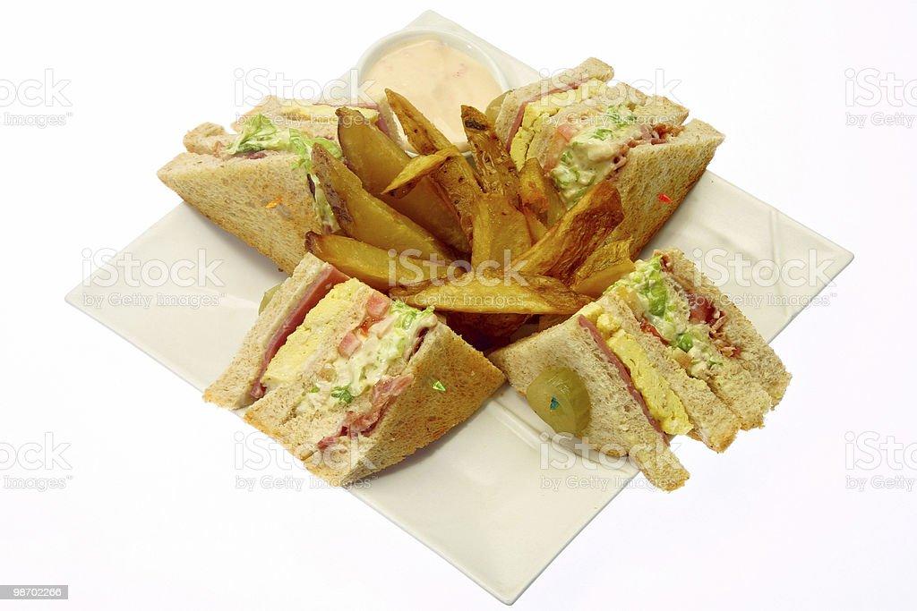 Club sandwich foto stock royalty-free