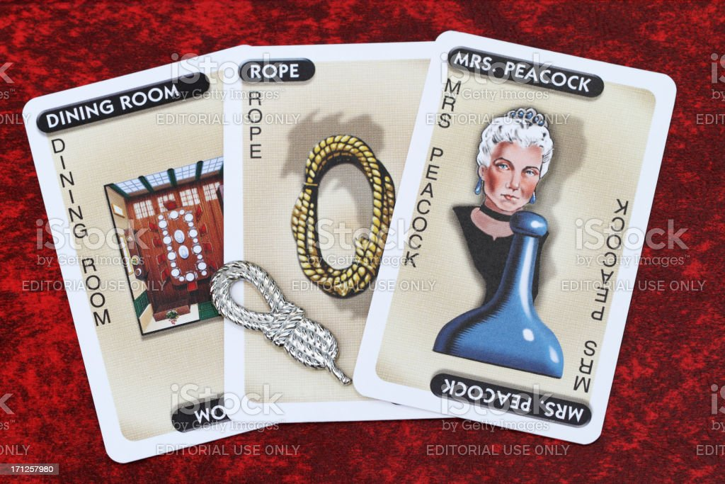 Clue game Mrs Peacock royalty-free stock photo