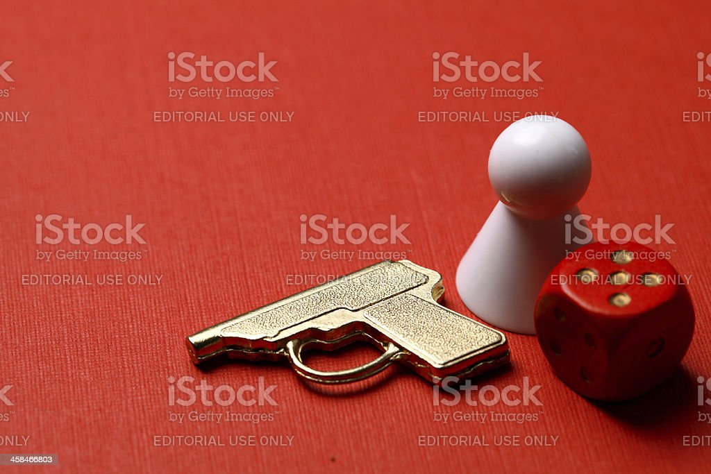 Cluedo board game pieces stock photo