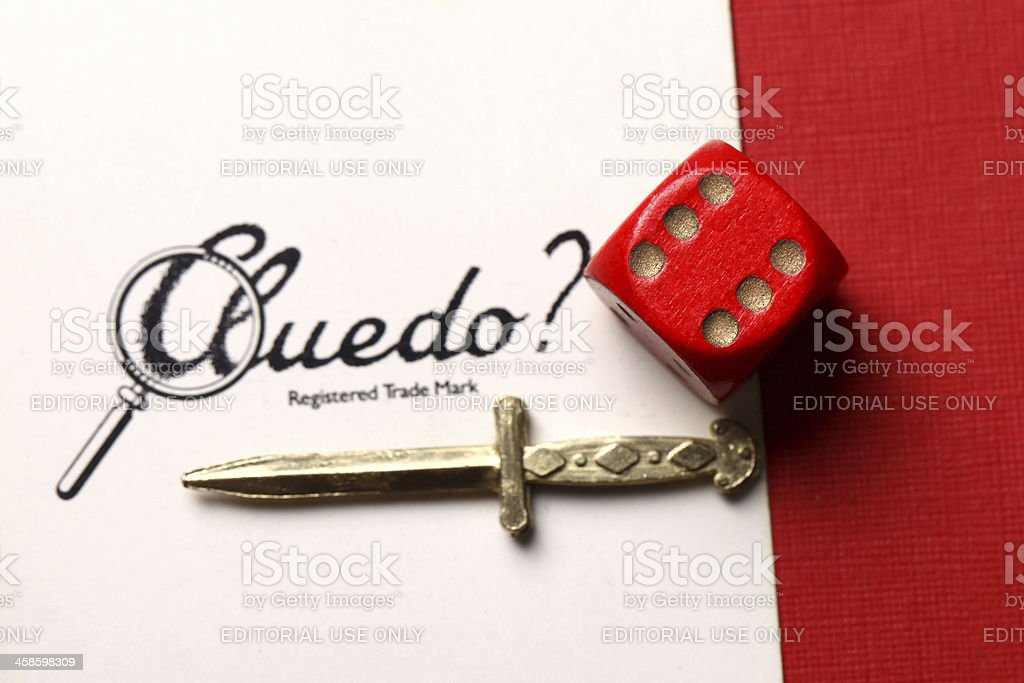 Cluedo board game pieces royalty-free stock photo
