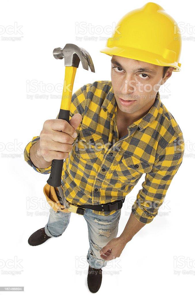 Clueless Carpenter royalty-free stock photo