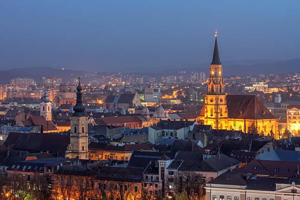 Cluj-Napoca, Rumänien skyline – Foto