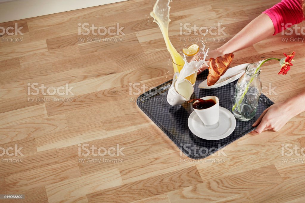 Clumsy person stock photo
