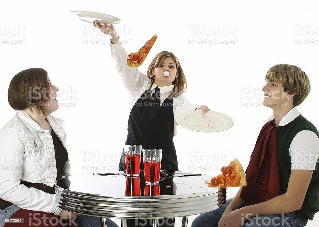 Clumsy Waitress royalty-free stock photo