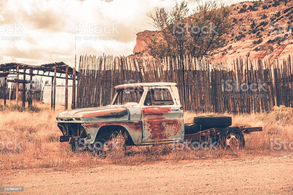 Clunker Pickup Truck stock photo