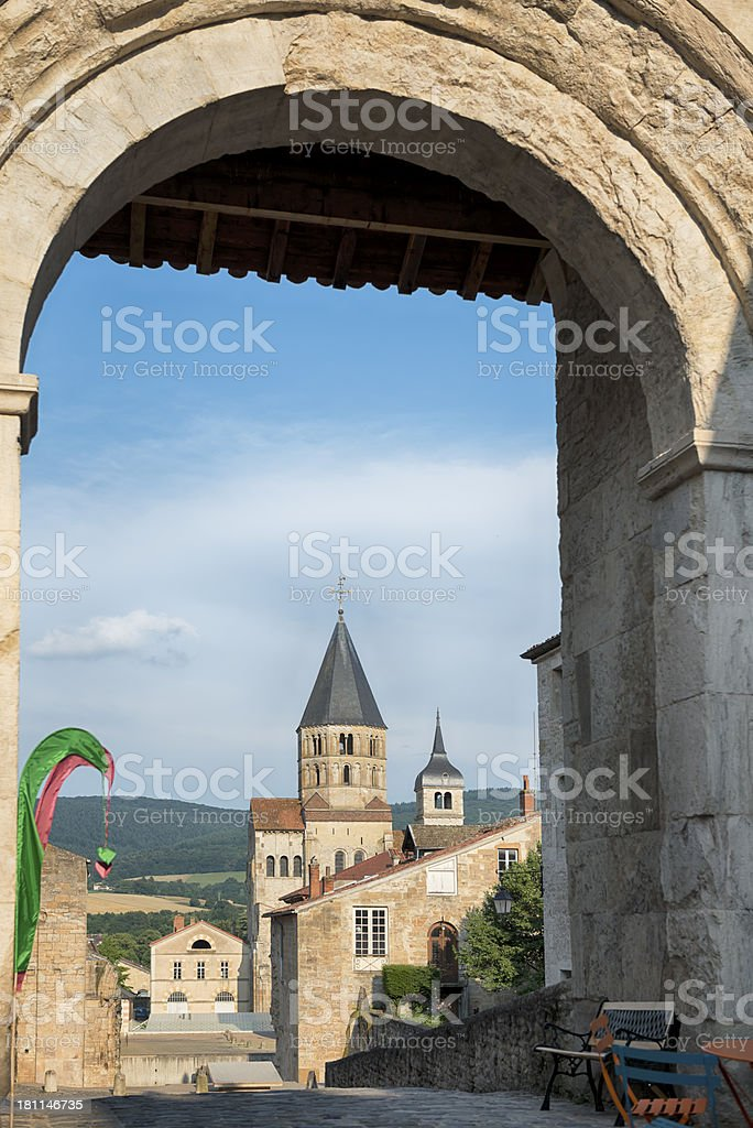 Cluny Abbey France  Benedictine Monatery stock photo