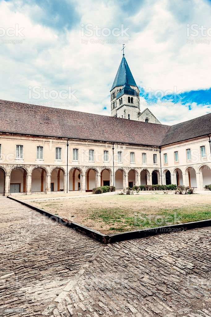 Cluny Abbey in Burgundy, France stock photo