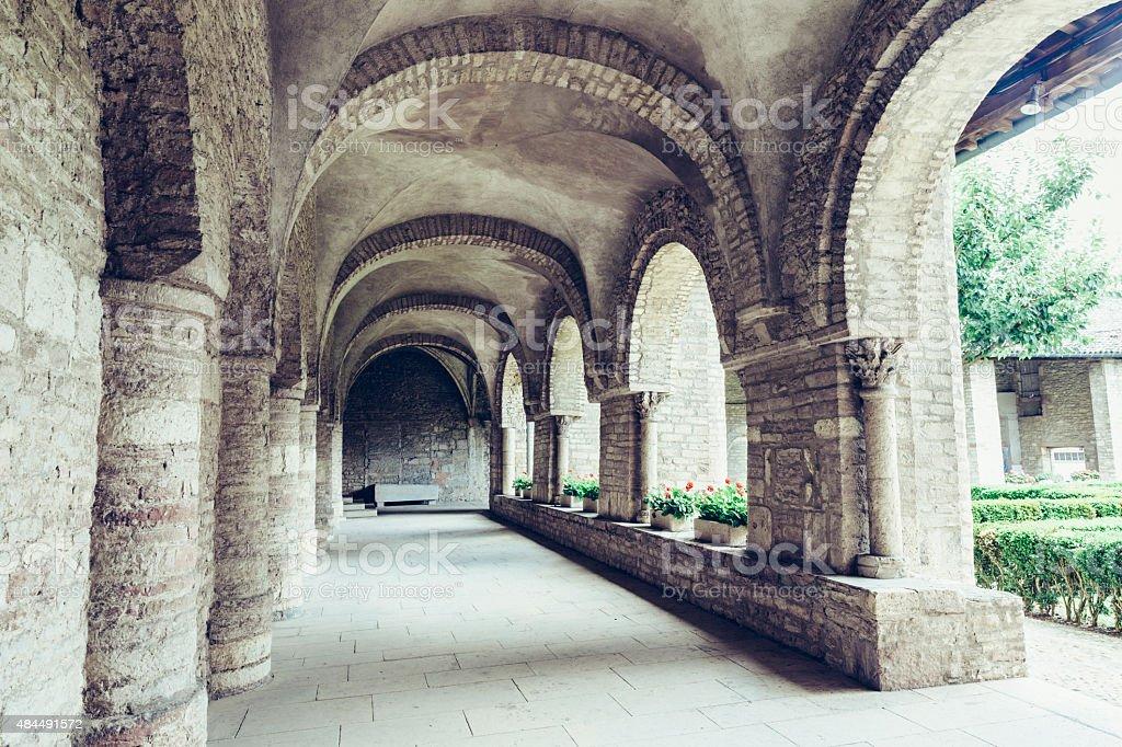 Cluny Abbey in Burgundy, France. stock photo