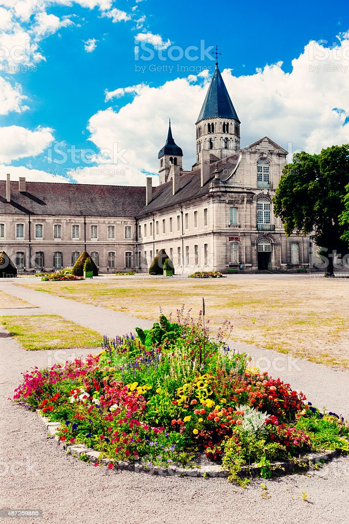 Cluny Abbey in Burgundy, France. stock photo
