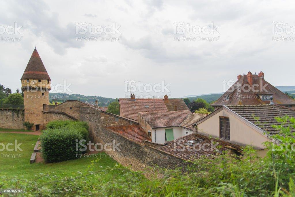 Cluny abbey in Burgundy stock photo