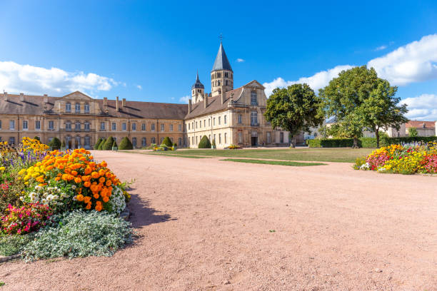 Cluny abbey in France, Burgundy stock photo