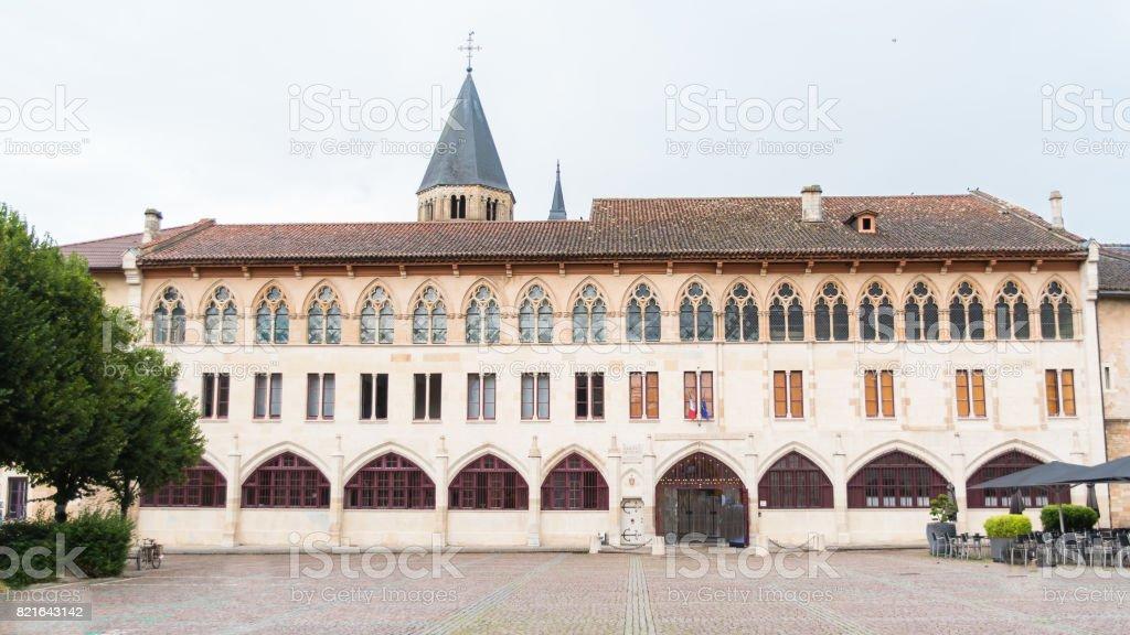 Cluny abbey in France, Burgundy stock photo