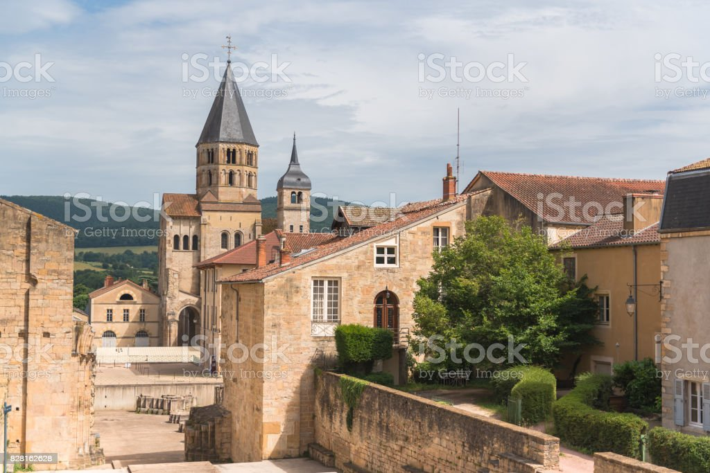 Cluny abbey in France stock photo
