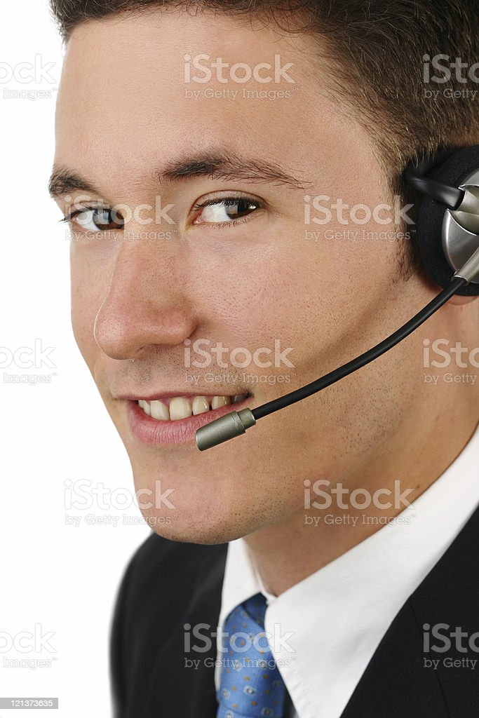 Cluse pic of  Phone Operator royalty-free stock photo