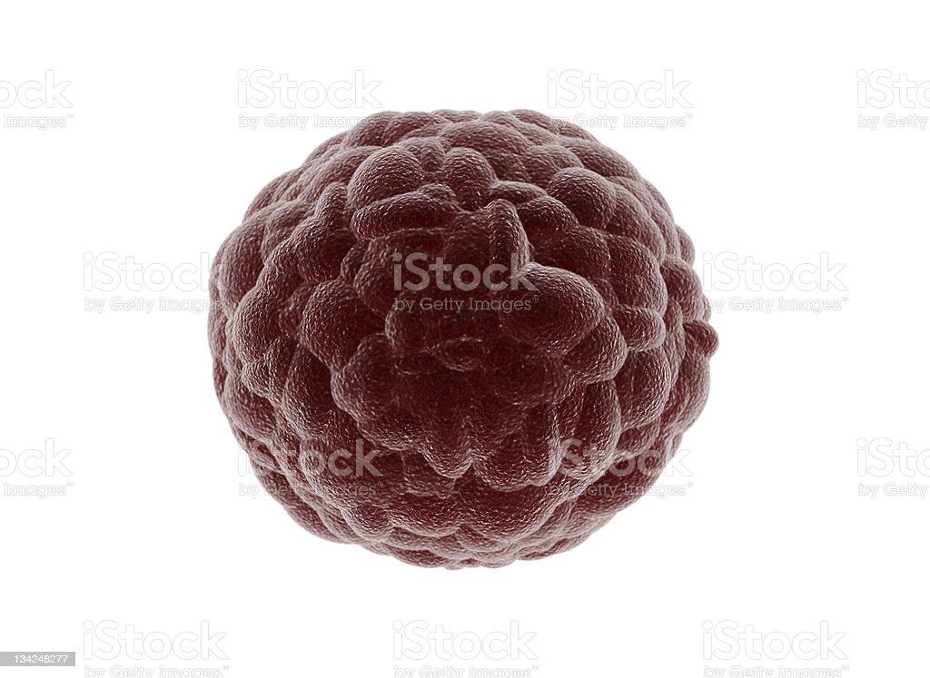 Grupo de células aislado de las células cancerosas - foto de stock