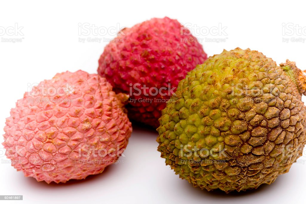 Cluster of Coloured Lychee royalty-free stock photo