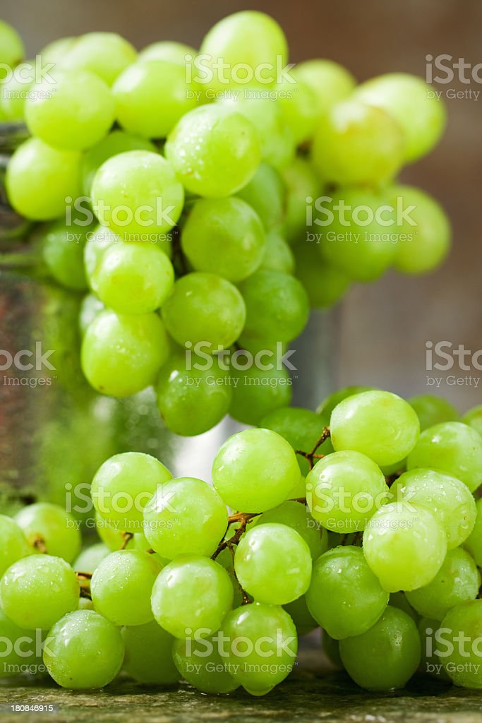 Cluster of Green Grapes royalty-free stock photo