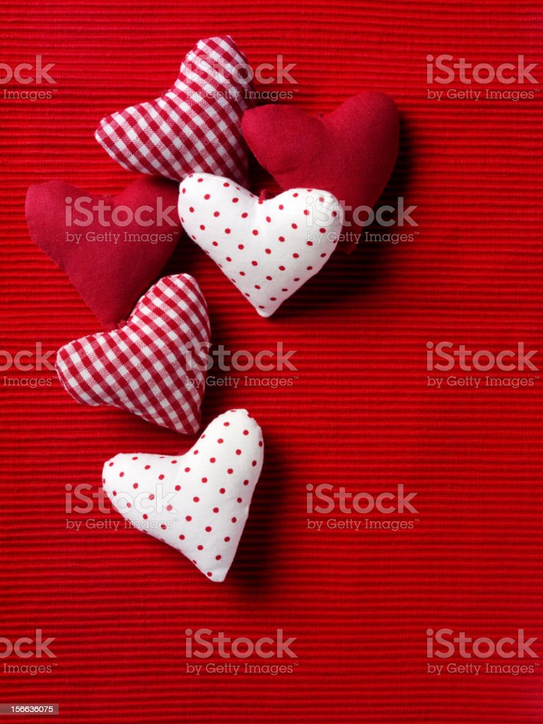 Cluster of Hearts royalty-free stock photo