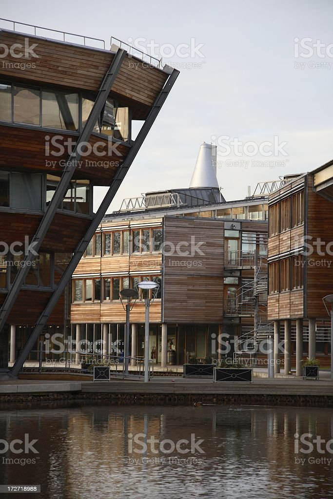 Cluster of modern buildings royalty-free stock photo