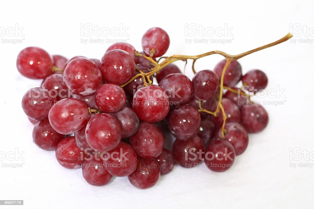 cluster of red grape in white background 免版稅 stock photo