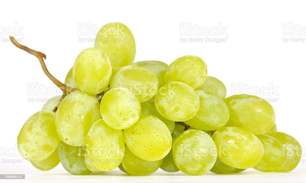 Cluster of White Muscat Grapes stock photo