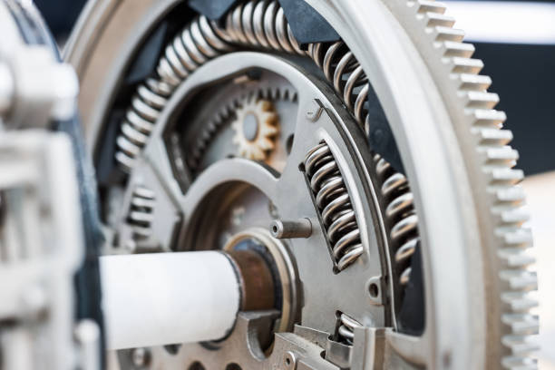 Clutch disc for a car engine stock photo