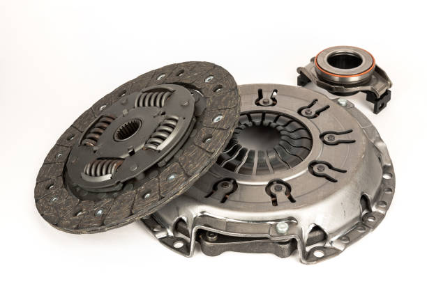 Clutch kit for cars Here you can see the three basic elements that make up the clutch, which is the connection between the engine and the gearbox vehicle clutch stock pictures, royalty-free photos & images