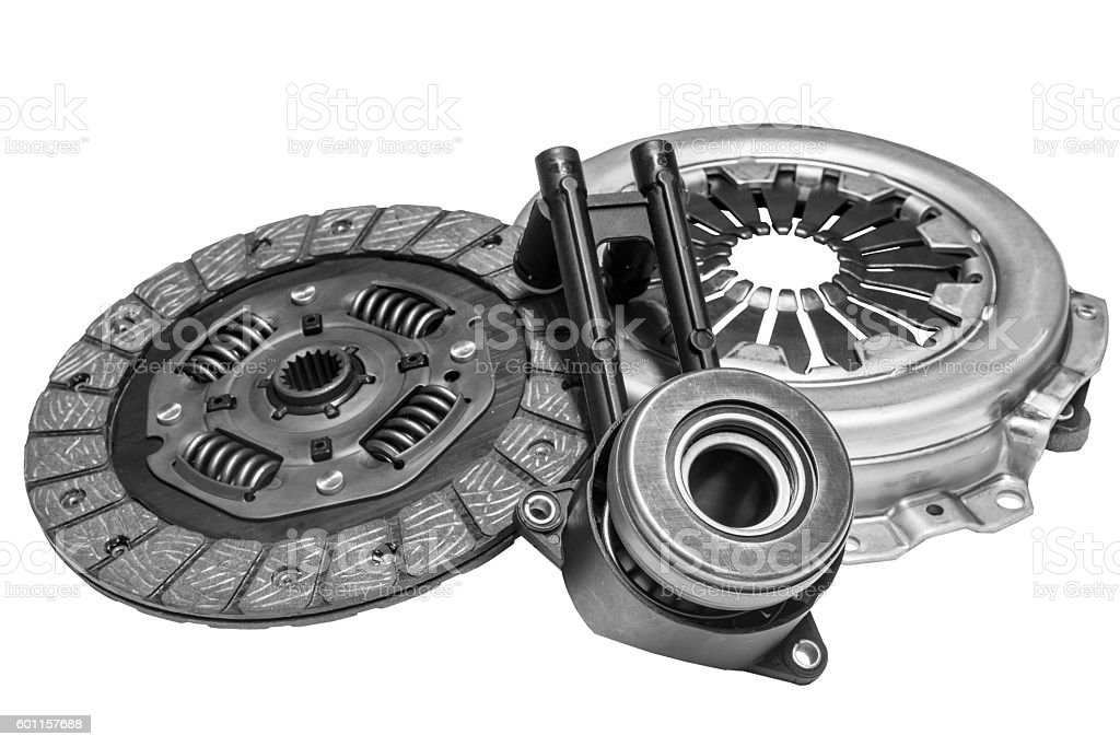 clutch kit with shallow depth of field stock photo