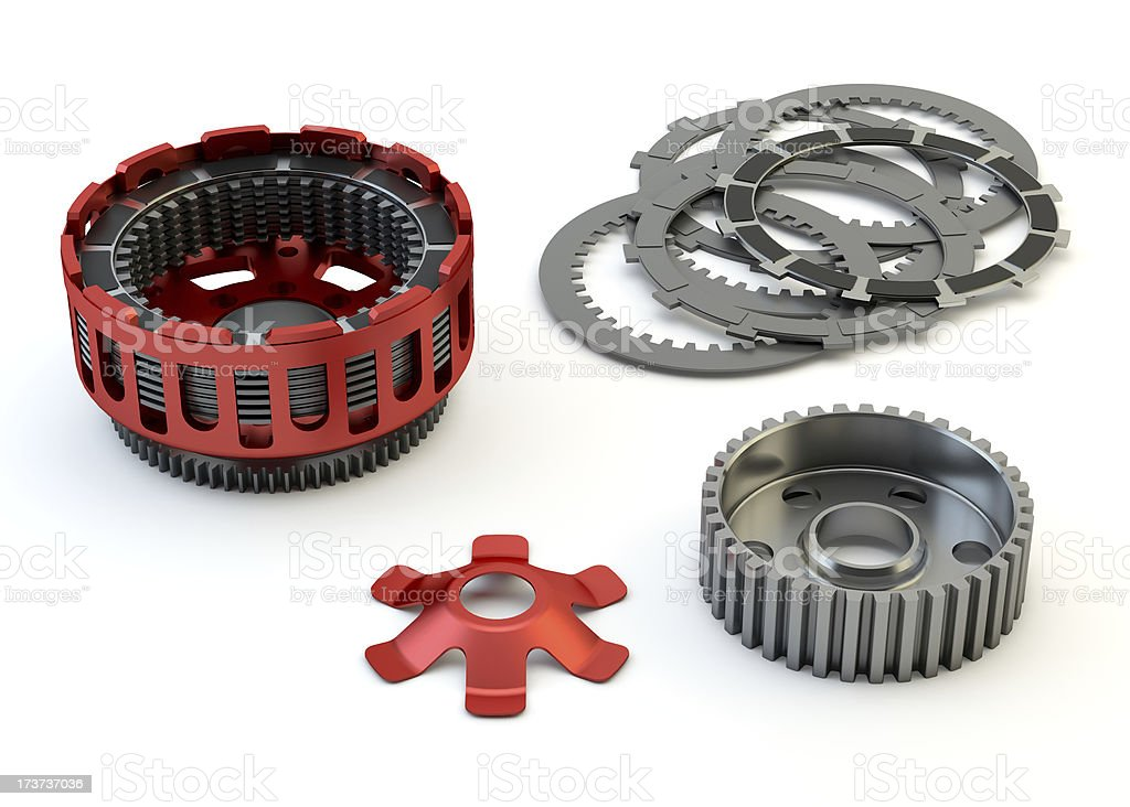 Clutch parts disassembled isolated on white background royalty-free stock photo