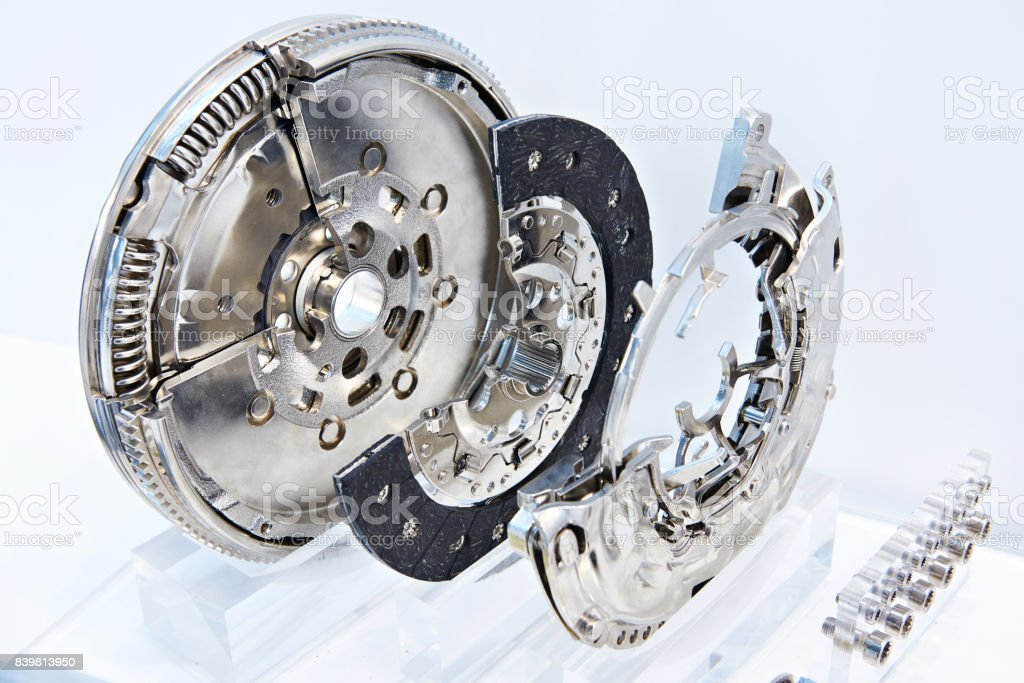Clutch system with dual mass flywheel stock photo