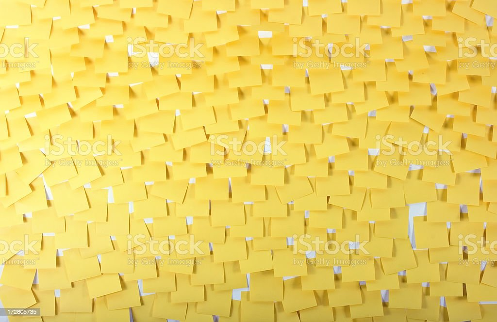 Clutter of adhesive notes stock photo