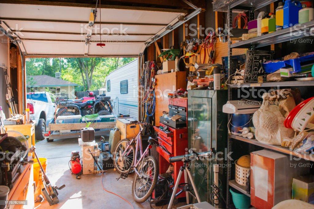 Cluttered Garage Home Storage Room In Denver Colorado ...