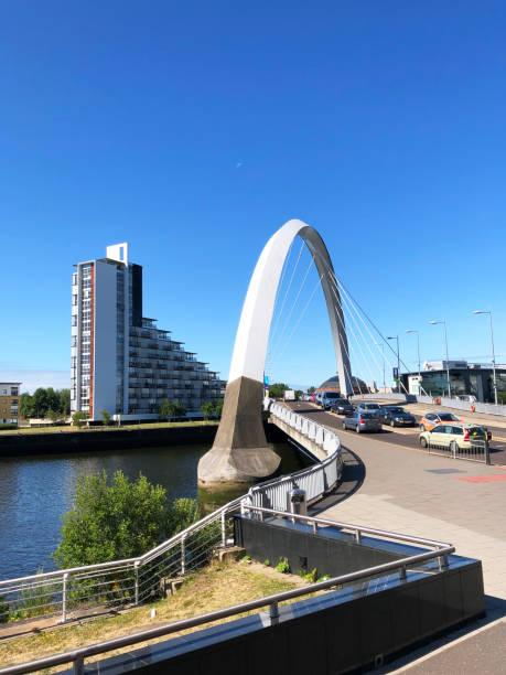Clyde Arc Glasgow stock photo
