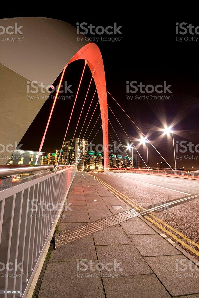 Clyde Arc / Squinty  Bridge, Glasgow, Scotland royalty-free stock photo