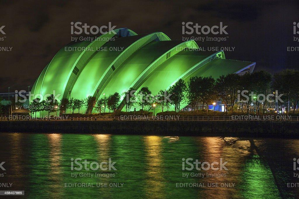 SECC Clyde Auditorium at night. stock photo