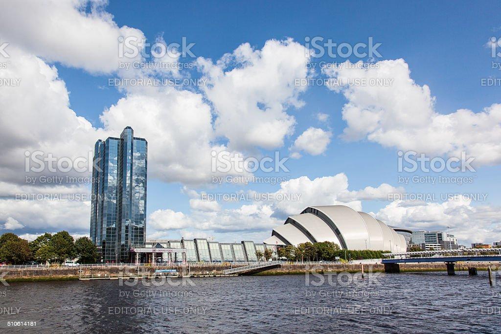 Clyde Auditorium - concert venue in Glasgow stock photo