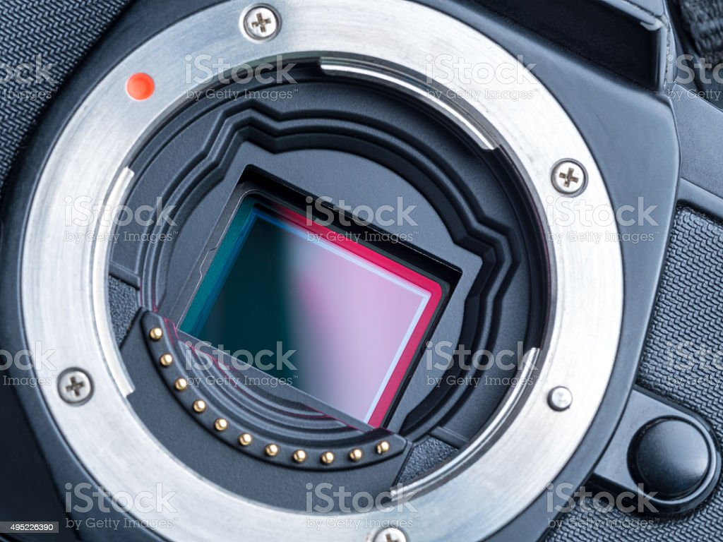 cmos sensor or also called digital ccd stock photo