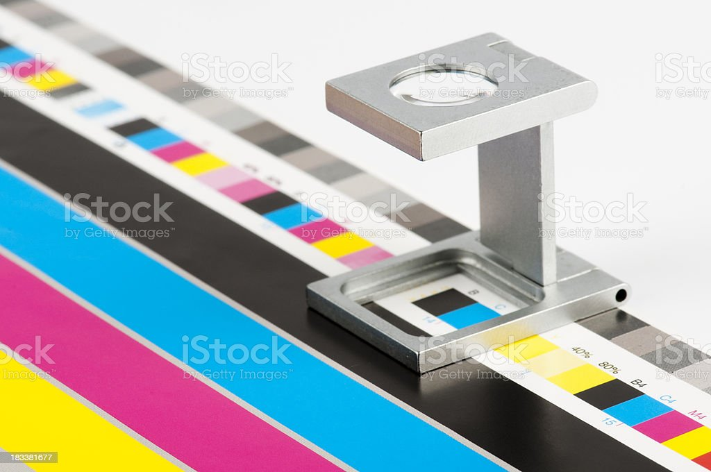 cmyk color guide No1. stock photo
