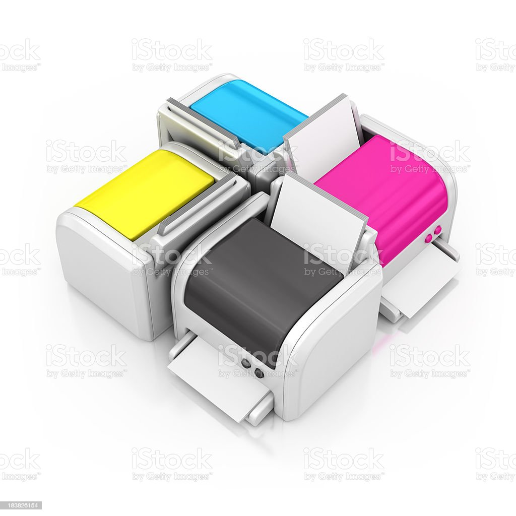cmyk printers royalty-free stock photo